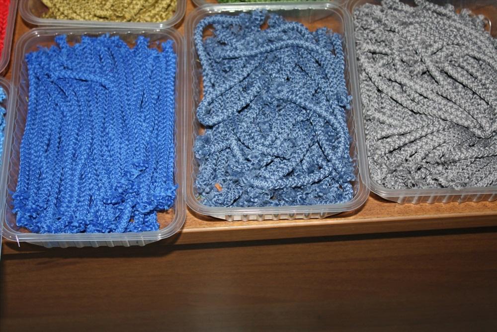 шнур для вязания ковра 5мм темно синий полиэфирный с сердечником 100м