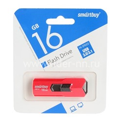 USB Flash 16GB SmartBuy STREAM красный 3.0