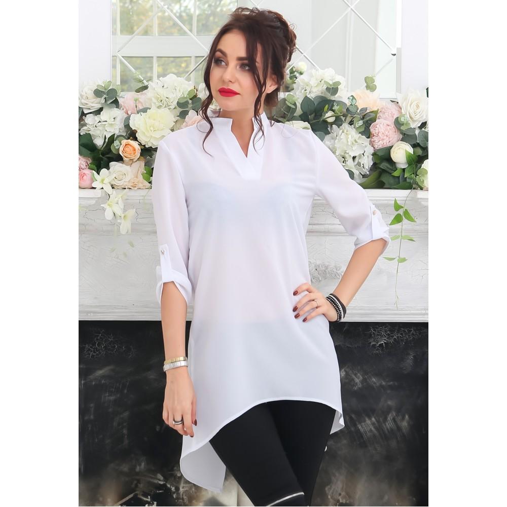 1334f7ae078 Белая рубашка удлиненная спинка АБ69 купить