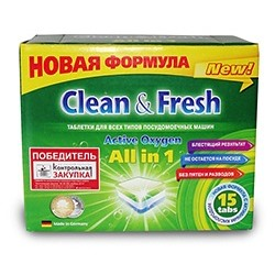 "Таблетки для ПММ ""Clean&Fresh Allin1  14 штук"