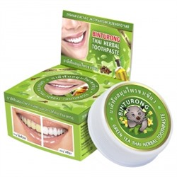 "Binturong. Зубная паста с экстрактом зеленого чая ""Green Tea Thai Herbal Toothpaste"", 33г 7025"