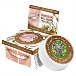 "Binturong. Зубная паста с кокосовым маслом ""Coconut Thai Herbal Toothpaste"", 33г 7049"